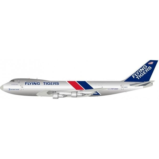 InFlight 200 Boeing 747-249F/SCD Flying Tigers (Polished) Reg - N810FT - 1:200 Scale