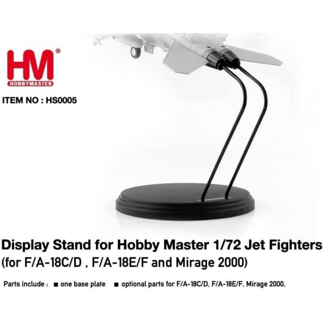 Hobby Master 1:72 Stand for Jet Fighters (for F/A-18C/D,F/A-18E/F and Mirage 2000)