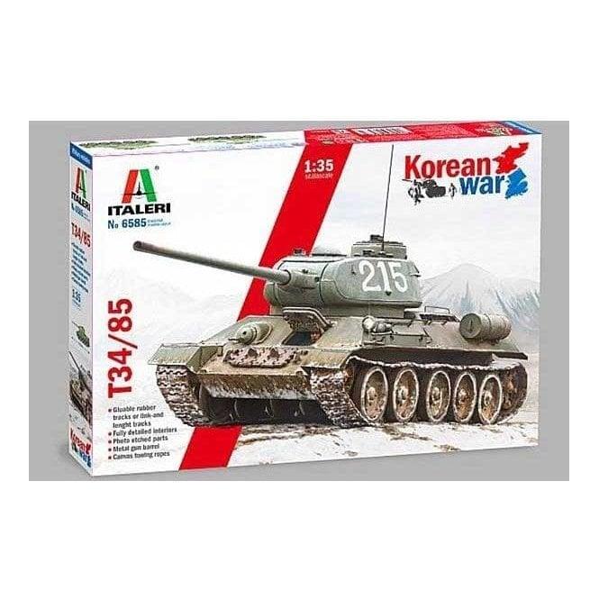 Italeri 1:35 T-34/85 Tank Korean War Military Model Kit