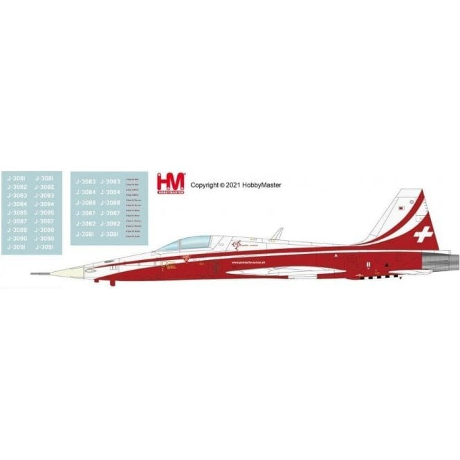 Hobby Master 1:72 F-5E Tiger II Patrouille Suisse, Season 2021 (with new pilot names decals)