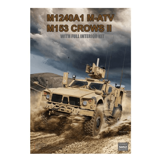 Rye Field Model 1:35 M1240A1 M-ATV (M153 CROWS II ) with full interior Military Model Kit