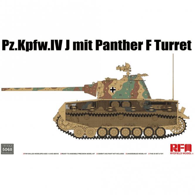 Rye Field Model 1:35 Pz.Kpfw.IV J mit Panther F Turret Military Model Kit