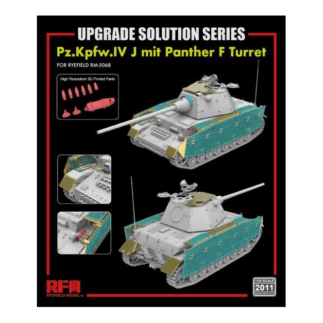 Rye Field Model 1:35 Upgrade Etch Parts Set For RM5068 Pz.Kpfw.IV J mit Panther F Turret Military Model Kit