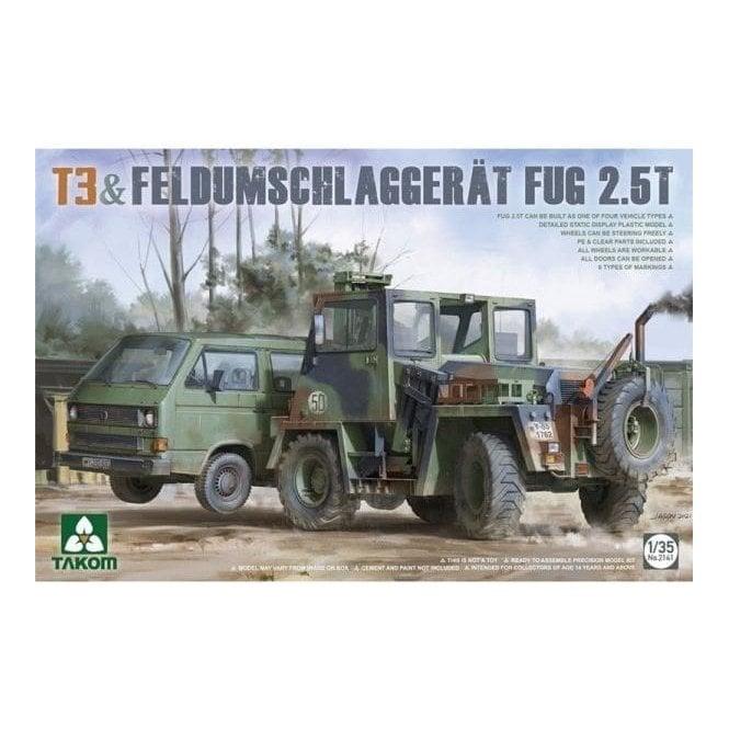 Takom 1:35 T3 + FeldUmschlagGerät FUG 2.5t Model Military Kit