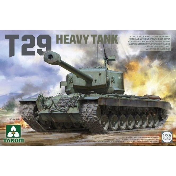 Takom 1:35 T29 heavy tank Model Military Kit