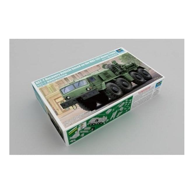 Trumpeter 1:35 01079 KET-T Recovery Vehicle based on MAZ-537 Heavy Truck Military Model Kit