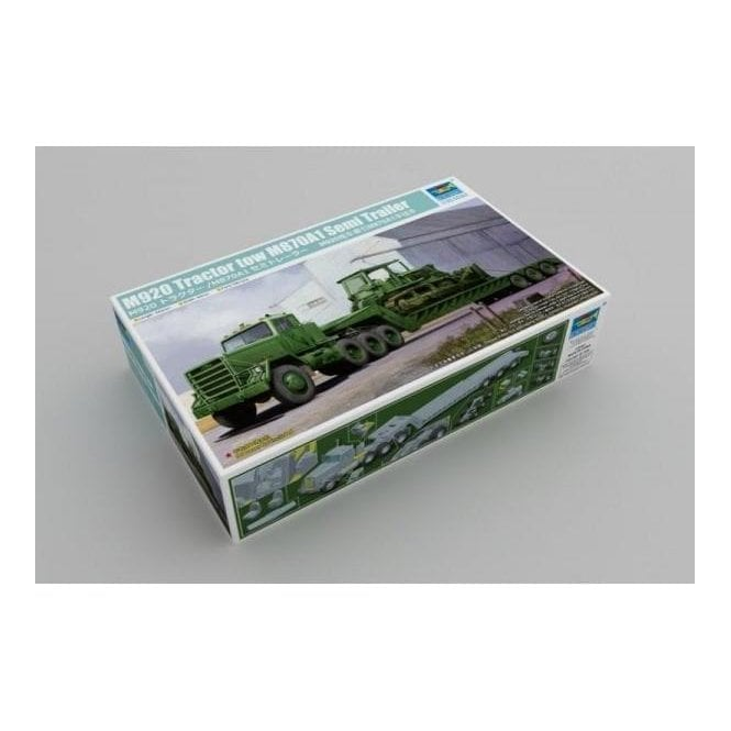 Trumpeter 1:35 M920 Tractor towing M870A1 Semi-trailer (dozer not included) Military Model Kit