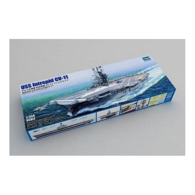 Trumpeter 1:350 05618 USS Intrepid CV-11 Essex Class Angled Deck Model Ship Kit