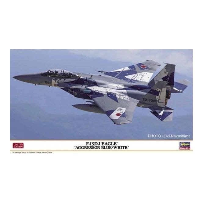 Hasegawa 1:72 F-15DJ Eagle Aggressor Blue/White Aircraft Model Kit