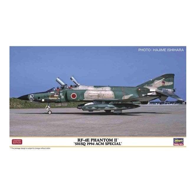 Hasegawa 1:72 RF-4E Phantom II 501Sq 1994 Acm Special Aircraft Model Kit