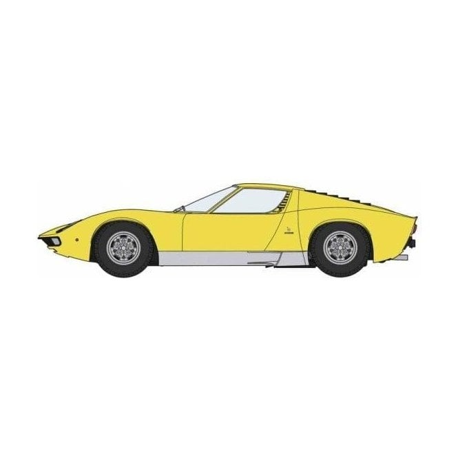 Hasegawa 1:24 Lamborghini Miura P400 SV Detail Up Version Yellow Body Car Model Kit