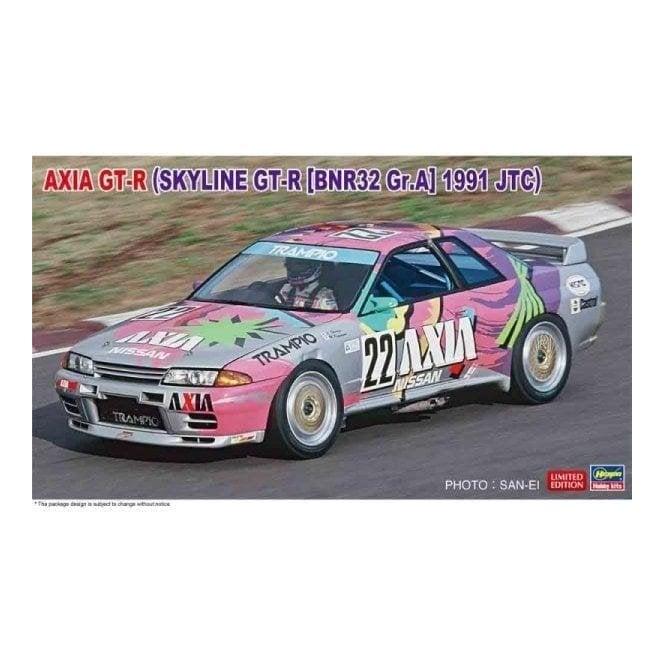 Hasegawa 1:24 Axia GT-R - Skyline GT-R BNR32 GR.A 1991 JTC Car Model Kit