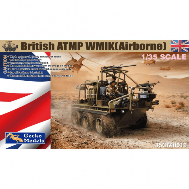 Gecko Models 1:35 British ATMP WMIK(Airborne) Military Model Kit