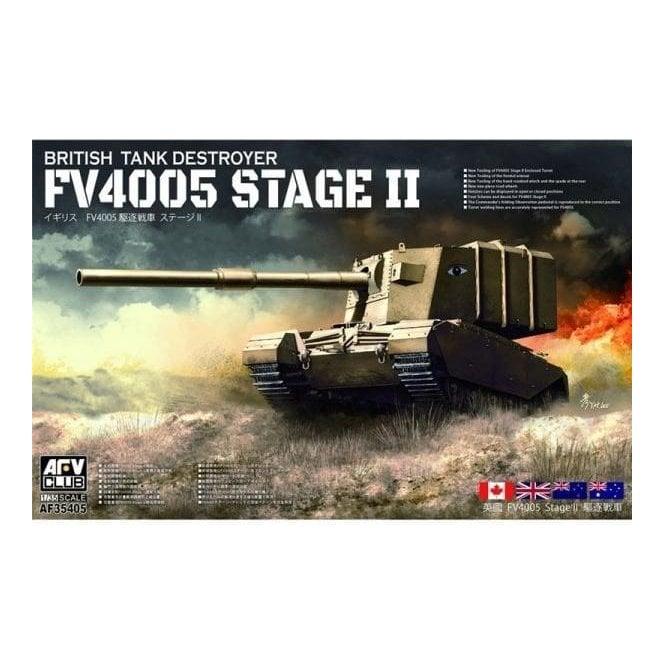 AFV Club 1:35 British FV4005 Stage II (Centaur) Main Tank Destroyer Military Model Kit