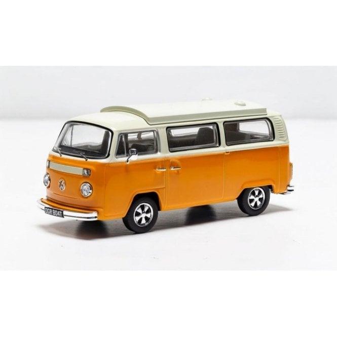 """Corgi Vanguards 1:43 Volkswagen Type 2 Bay Window Devon """"New Moonraker"""" Marino Yellow and Pastel White Model Car (New Tooling)"""