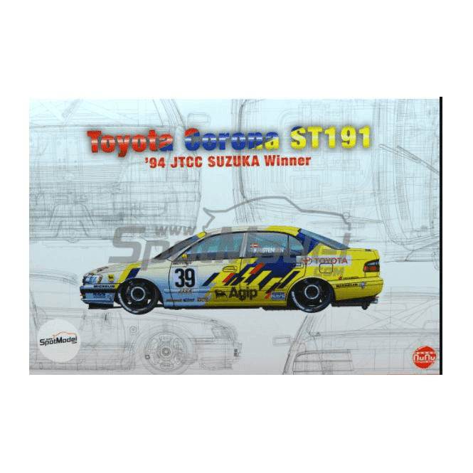 NUNU 1:24 Toyota Corona ST191 1994 International Suzuka 500km Winner Car Model Kit
