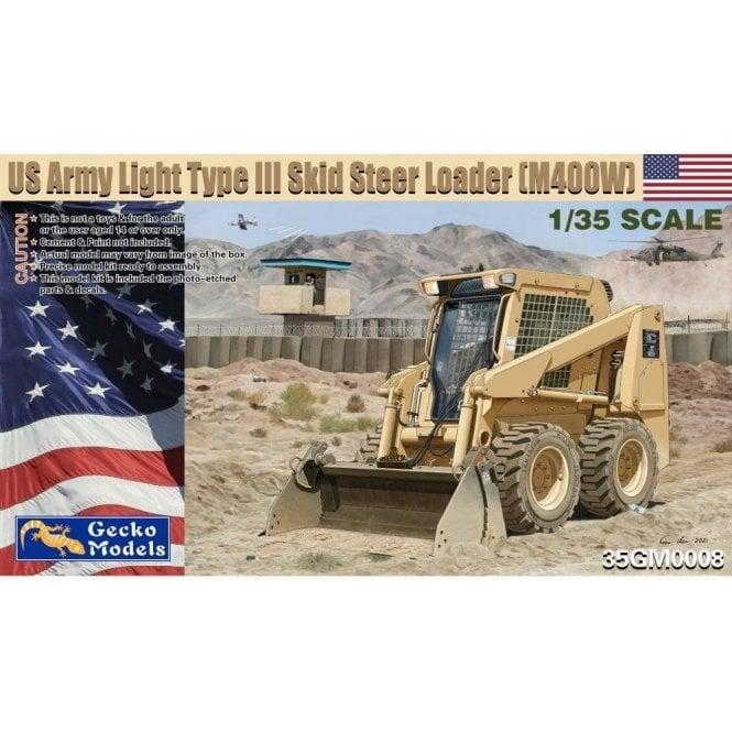 Gecko Models 1:35 US Army Light Type III Skid Steer Loader (M400W) Military Model Kit