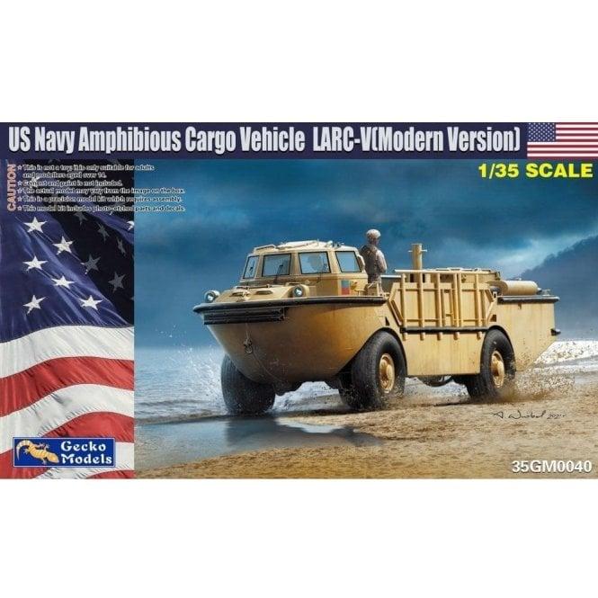 Gecko Models 1:35 Modern USN LARC-V w-Combat Rubber Raiding Craft Military Model Kit
