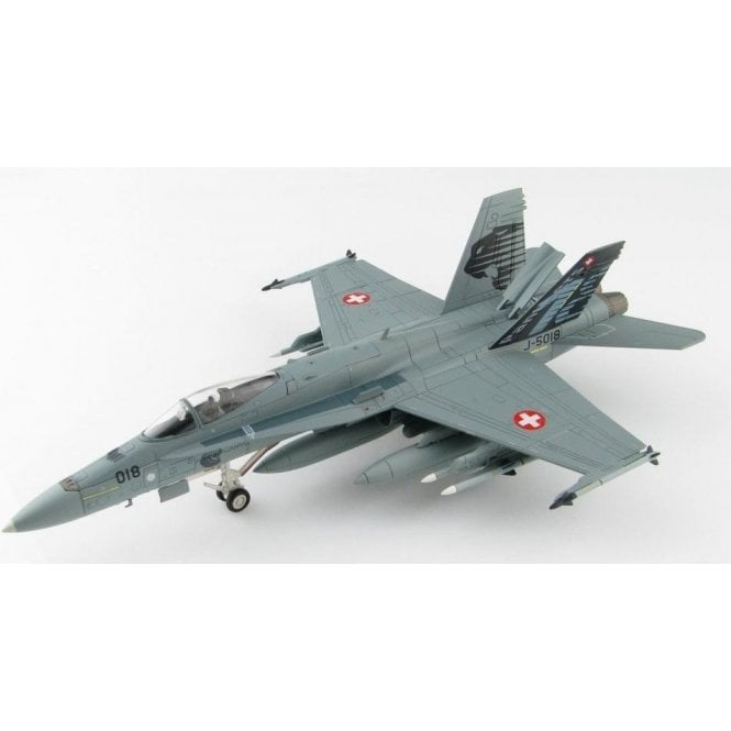 """Hobby Master 1:72 F/A-18C Hornet J-5018, 18th Sqn """"Panthers"""" Swiss Air Force, Nov 2009"""