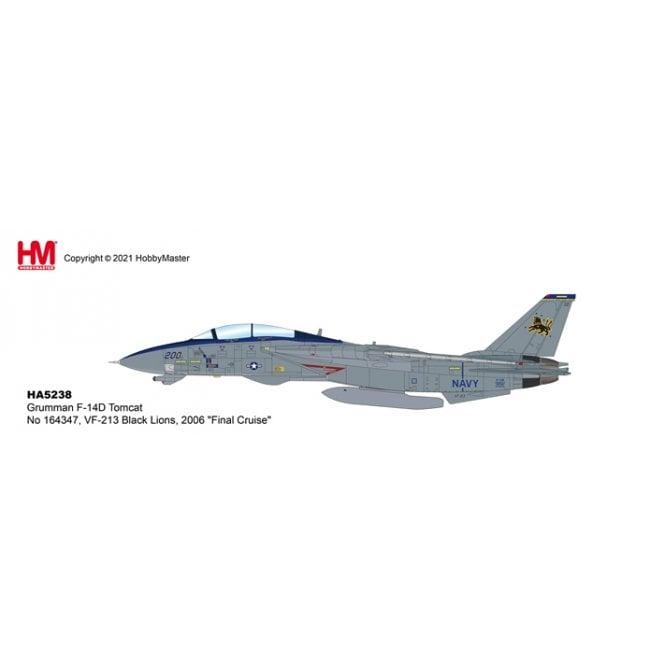 "Hobby Master 1:72 F-14D Tomcat No 164347, VF-213 Black Lions, 2006 ""Final Cruise"""