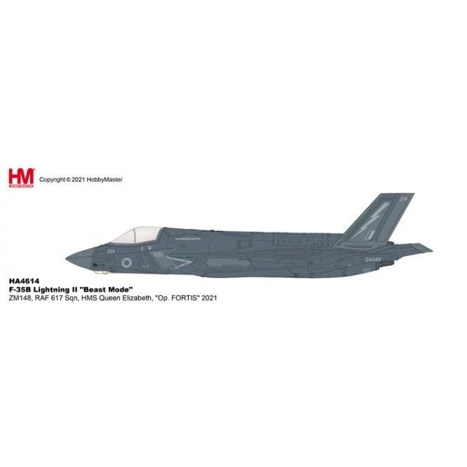 "Hobby Master 1:72 F-35B Lightning II ""Beast Mode"" ZM148, RAF 617 Sqn, HMS Queen Elizabeth, ""Op. FORTIS"" 2021"