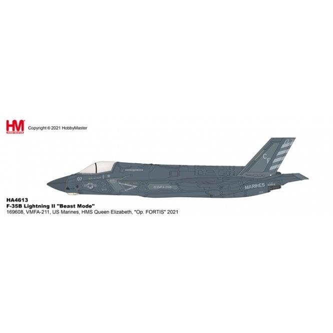 "Hobby Master 1:72 F-35B Lightning II ""Beast Mode"" 169608, VMFA-211, US Marines, HMS Queen Elizabeth, ""Op. FORTIS"" 2021"