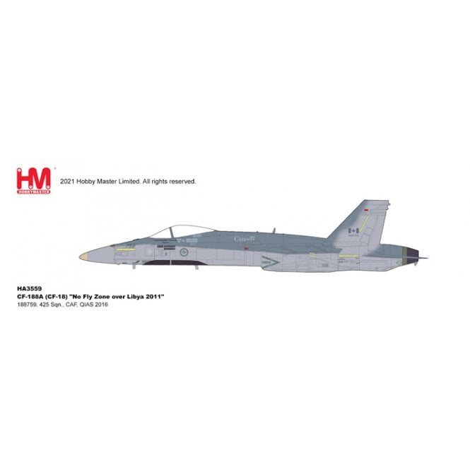 """Hobby Master 1:72 CF-188A (CF-18) """"No Fly Zone over Libya 2011"""" 188759, 425 Sqn., CAF, QIAS 2016"""