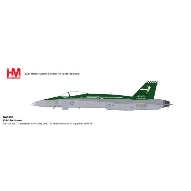 """Hobby Master 1:72 F/A-18A Hornet  A21-39, No. 77 Squadron, RAAF, Dec 2020 """"33 Years Hornet of 77 Squadron of RAAF"""""""