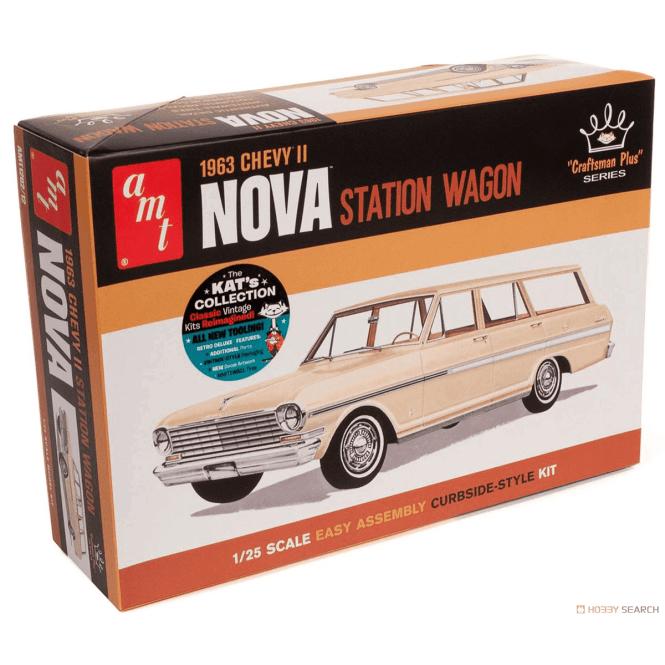 AMT 1:25 1963 Chevy II Nova Station Wagon Car Model Kit