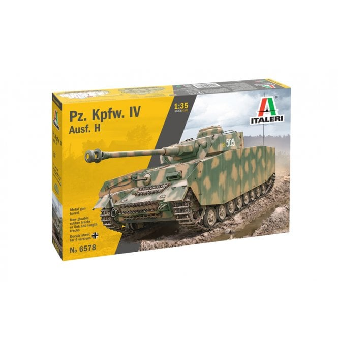 Italeri 1:35 Pz. Kpfw. IV Ausf. H Military Model Kit