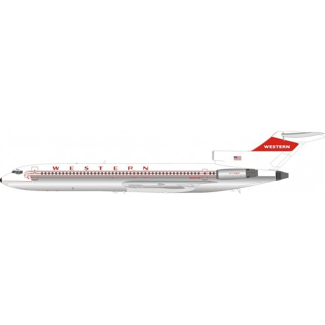 InFlight 200 Boeing 727-200 Western Airlines (Polished) Reg - N2801W - 1:200 Scale