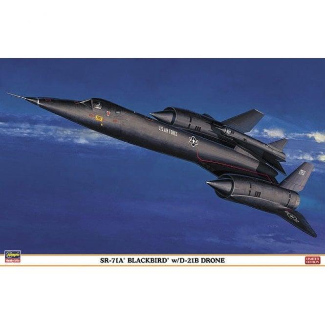 Hasegawa 1:72 SR-71A Blackbird w/D-21B Drone Aircraft Model Kit