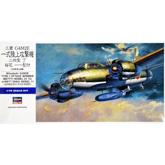 Hasegawa 1:72 Mitsubishi G4M Attack Bomber (BETTY) with OHKA Aircraft Model Kit