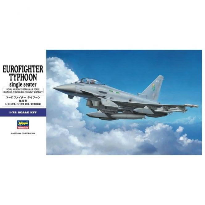 Hasegawa 1:72 Eurofighter Typhoon Single Seater Aircraft Model Kit