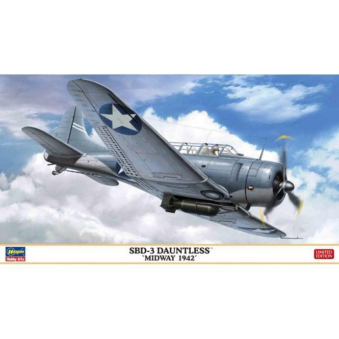 Hasegawa 1:48 SBD-3 Dauntless - Midway 1942 Aircraft Model Kit
