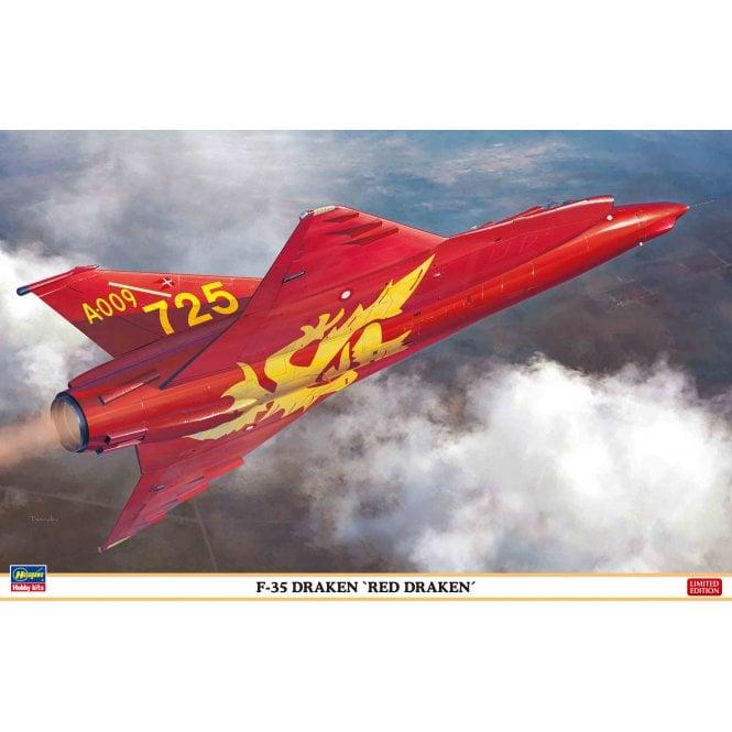 Hasegawa 1:48 F-35 Draken - Red Draken Aircraft Model Kit