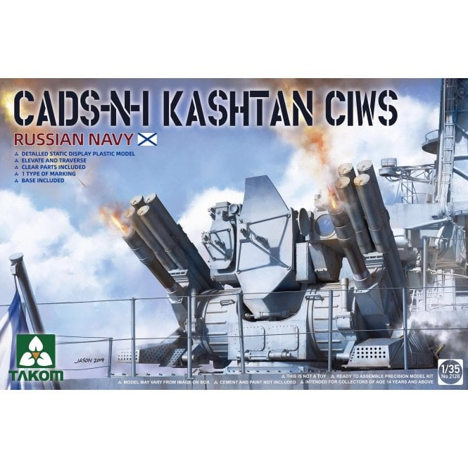 Takom 1:35 Russian Navy CADS-N-1 Kashtan CIWS Model Ship Kit