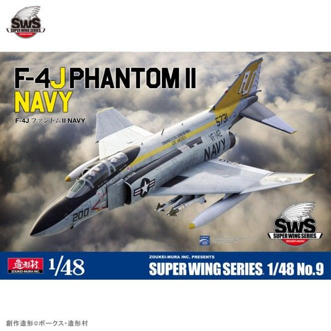 Zoukeimura 1:48 Super Wing Series McDonnell Douglas F4J Phantom II US Navy Aviation Kit