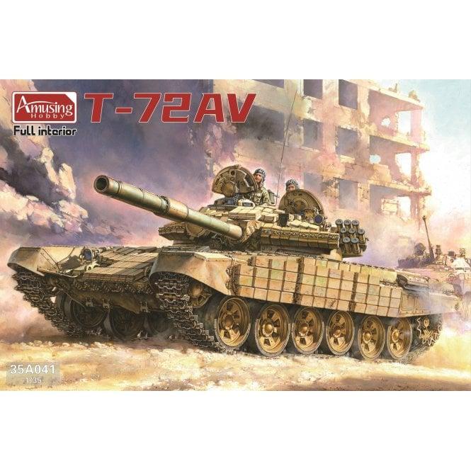 Amusing Hobby 1:35 T-72 AV (Full interior) Military Model Kit