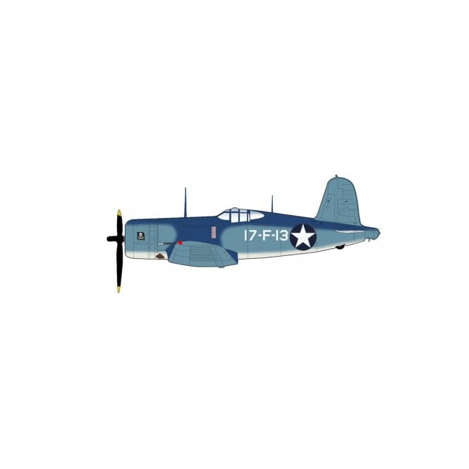 "Hobby Master 1:48 F4U-1 Corsair ""Bird Cage"" 17-F-13, VF-17 (aboard USS Bunker Hill), WWII"