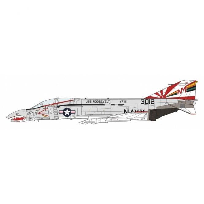 Hasegawa 1:48 F-4B/N Phantom II - VF-111 Sundowners Cag Aircraft Model Kit