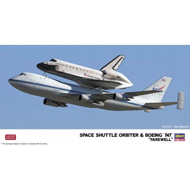 Hasegawa 1:200 Space Shuttle Orbiter & Boeing 747 - Farewell Aircraft Model Kit