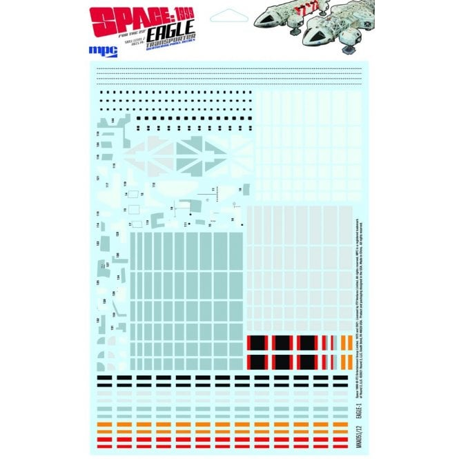 MPC 1:48 Space:1999 Eagle Transporter Paneling Decals