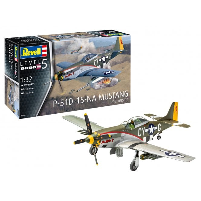 Revell 1:32 P-51D Mustang (Late Version) Aircraft Model Kit