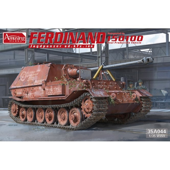 "Amusing Hobby 1:35 Tank destroyer Tiger (P) ""Ferdinand"" No.150100 Military Model Kit"