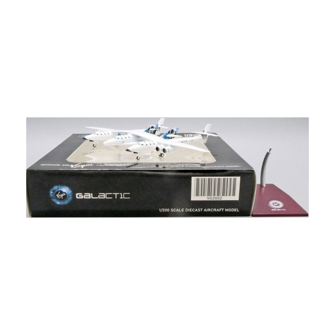 JC Wings 1:200 Composites 348 Virgin Galactic White Knight II (New Livery) - Reg N348MS