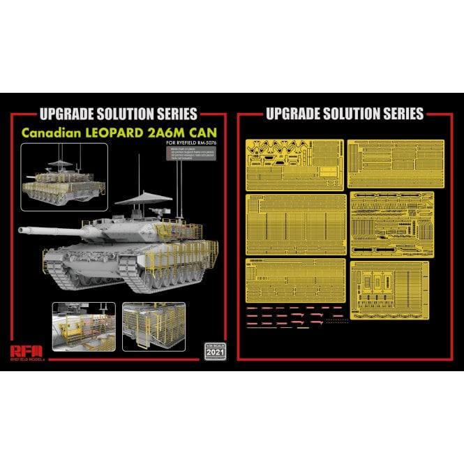 Rye Field Model 1:35 Upgrade Etch Parts Set RM5076 Canadian LEOPARD 2A6M CAN Military Model Kit