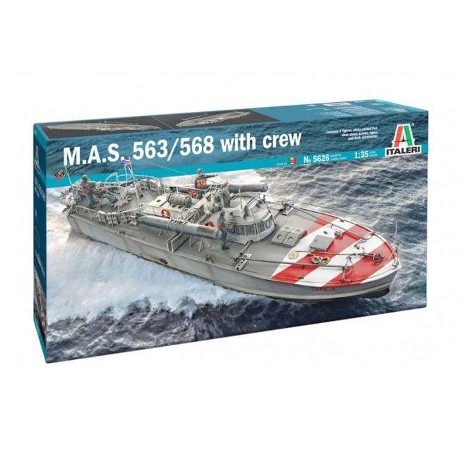 Italeri 1:35 M.A.S. 563/568 with crew Model Ship Kit