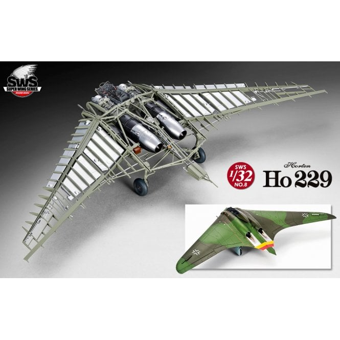 Zoukeimura Super Wing Series Horten Ho 229 - 1:32 Scale Aviation Kit