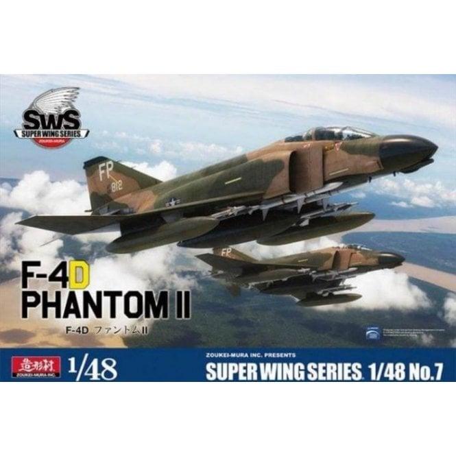 Zoukeimura 1:48 Super Wing Series McDonnell Douglas F-4D Phantom II USAF Aviation Kit